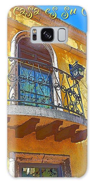 Hacienda Balcony Railing Lanterns Mi Casa Es Su Casa Galaxy Case by A Gurmankin