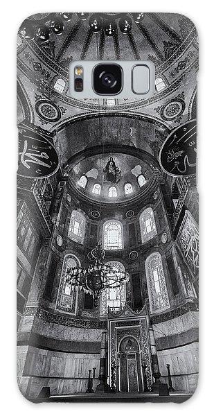 Sacred Heart Galaxy Case - Hagia Sophia Interior - Bw by Stephen Stookey
