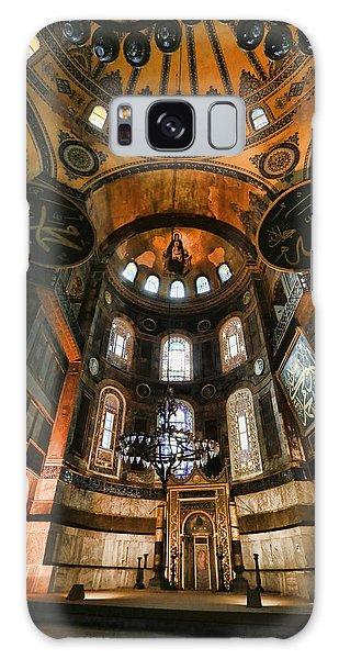 Sacred Heart Galaxy Case - Hagia Sophia Interior by Stephen Stookey