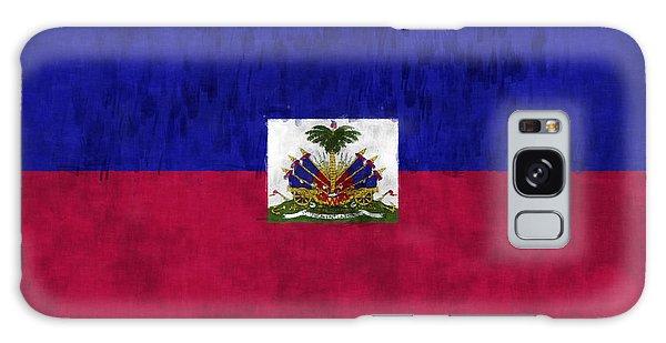Bahamas Galaxy Case - Haiti Flag by World Art Prints And Designs