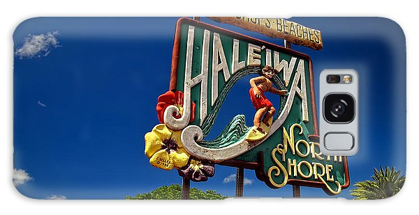 Haleiwa Sign On The North Shore Of Oahu Galaxy Case