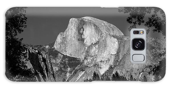Half Dome Black And White Galaxy Case