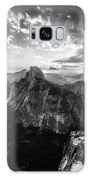 Half Dome In Black And White Galaxy Case by Mike Lee
