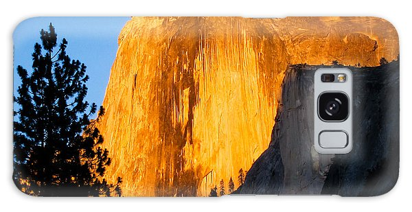 Half Dome Yosemite At Sunset Galaxy Case