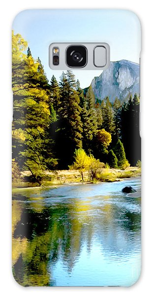 Half Dome Yosemite River Valley Galaxy Case by Bob and Nadine Johnston