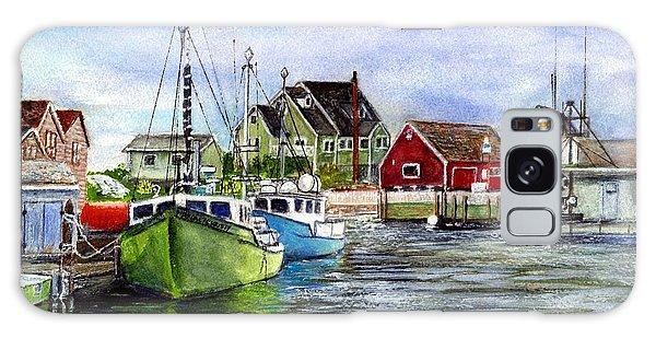 Peggys Cove Nova Scotia Watercolor Galaxy Case by Carol Wisniewski