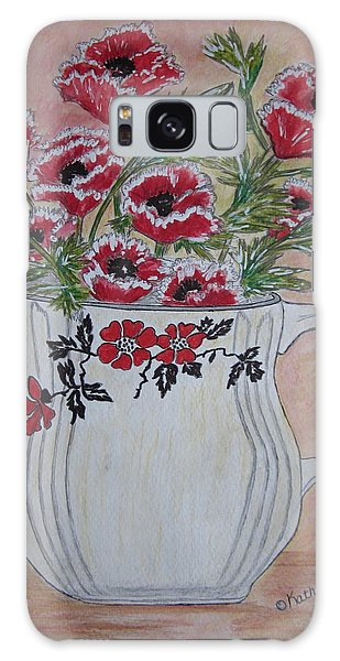 Hall China Red Poppy And Poppies Galaxy Case