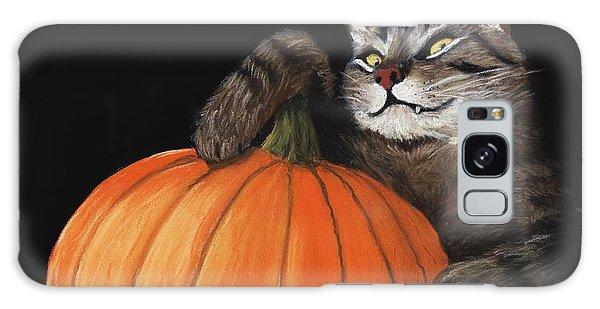 Furry Galaxy S8 Case - Halloween Cat by Anastasiya Malakhova