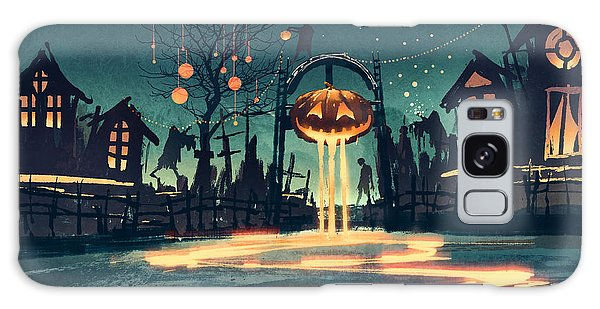Concept Galaxy Case - Halloween Night With Pumpkin And by Tithi Luadthong