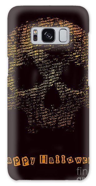 Magician Galaxy S8 Case - Halloween Poster With Skull. Vector by Jumpingsack