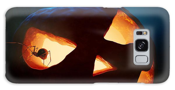 Halloween Pumpkin And Spiders Galaxy Case by Johan Swanepoel