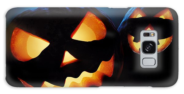 Pumpkin Galaxy S8 Case - Halloween Pumpkins Closeup -  Jack O'lantern by Johan Swanepoel