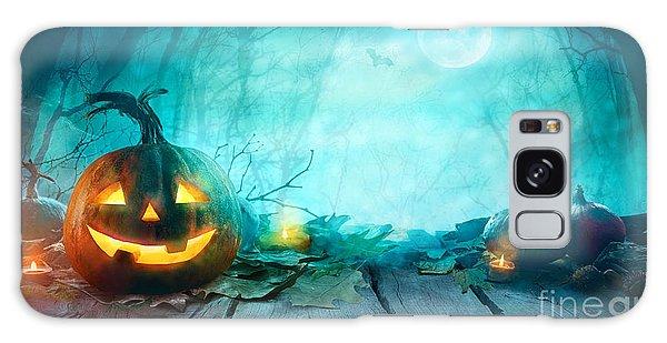 House Galaxy Case - Halloween Pumpkins On Wood. Halloween by Mythja