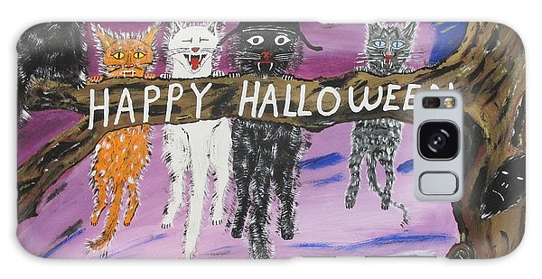 Halloween Scaredy Cats Galaxy Case