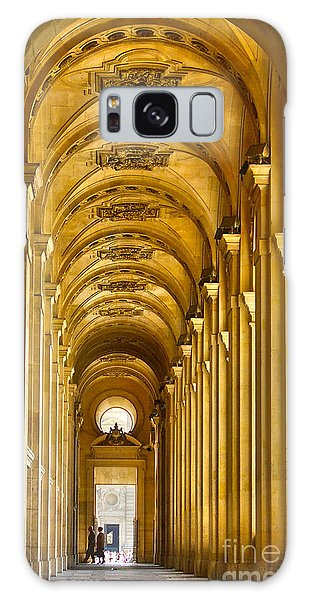 Hallway At The Louvre In Paris Galaxy Case