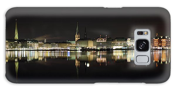 Hamburg Skyline At Night Galaxy Case