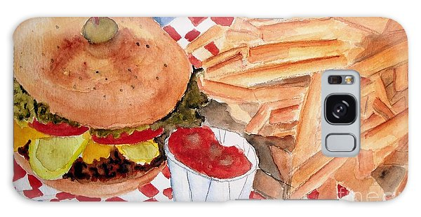 Hamburger Plate With Fries Galaxy Case by Carol Grimes
