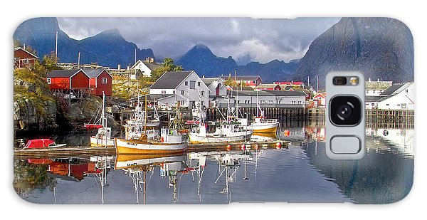 Hamnoy Fishing Village On Lofoten Islands Galaxy Case
