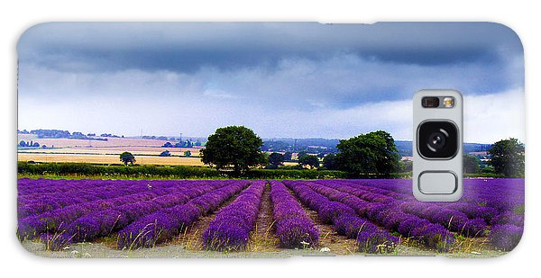 Hampshire Lavender Field Galaxy Case