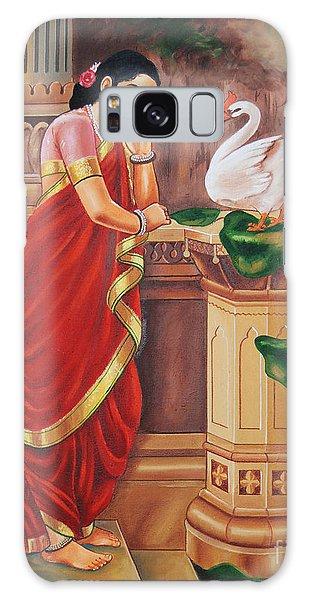 Hamsa Damayanthi Galaxy Case by Ragunath Venkatraman