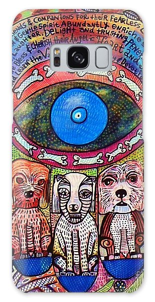 Hamsa Dog Blessing' Galaxy Case