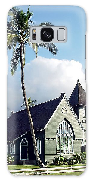 Hanalei Church 2 Galaxy Case by John Bushnell