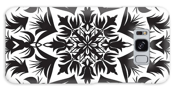 White Galaxy Case - Hand Drawing Pattern For Tile In Black by Zinaida Zaiko