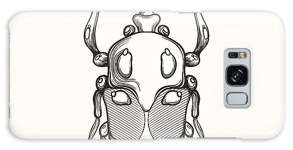 T-shirts Galaxy Case - Hand Drawn Engraving Sketch Scarab by Panki