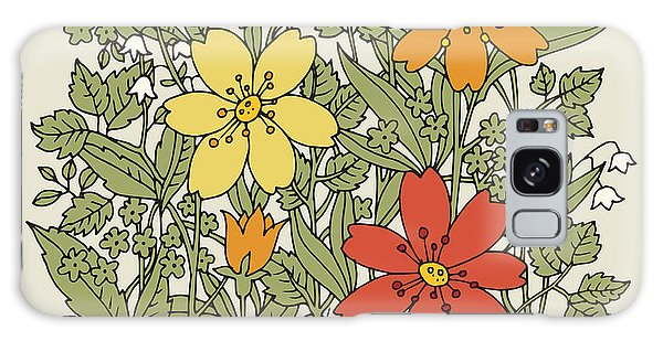 Branch Galaxy Case - Hand Drawn Flowers On White Background by Astudio