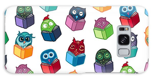 Wrap Galaxy Case - Hand  Drawn Funny Owl With Book by Barsrsind