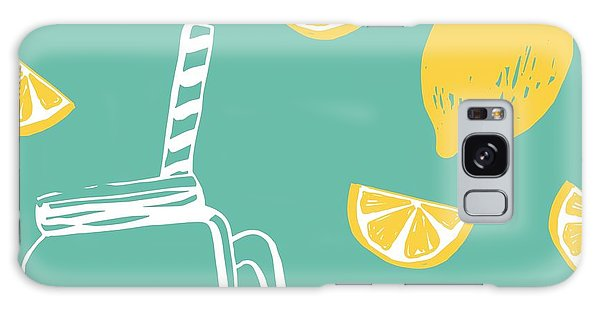 Summertime Galaxy Case - Hand Drawn Lemonade by Nadezda Barkova