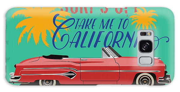 Style Galaxy Case - Hand Drawn Retro Car With A Text Take by Heather insane