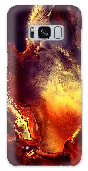 Hand Of Gold Translucent Fluid Macro Photography Art By Kredart Galaxy Case