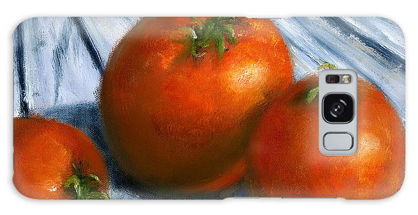 Hand Painted Art Still  Life Tomatoes Galaxy Case