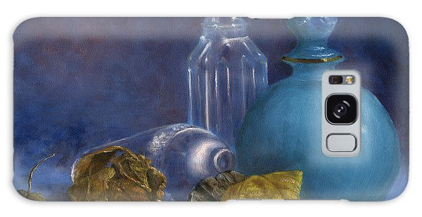 Hand Painted Still Life Bottles Leaves Galaxy Case
