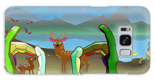 Hands And Deer Galaxy Case