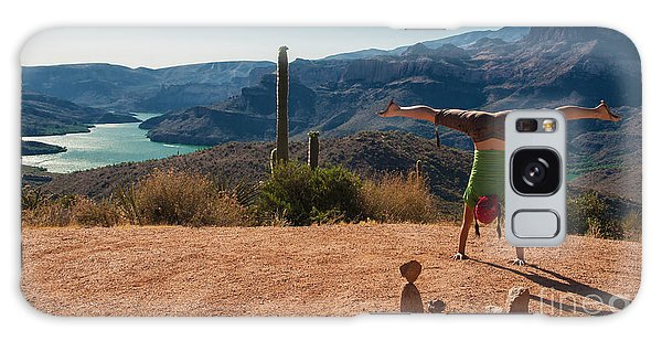 Handstand At Apache Lake Galaxy Case