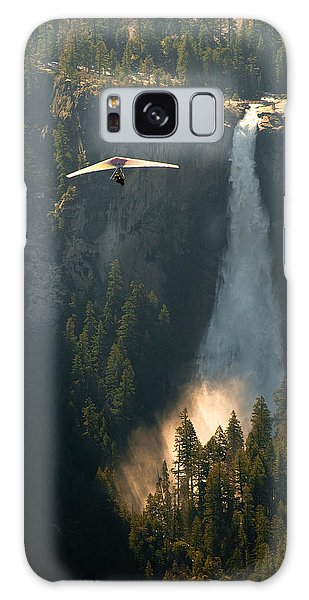 Hang Glider In Yosemite National Park Galaxy Case by Celso Diniz