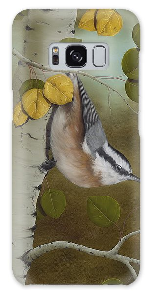 Breast Galaxy Case - Hanging Around-red Breasted Nuthatch by Rick Bainbridge