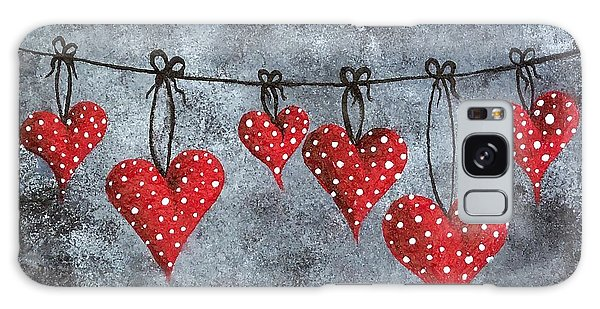 Hanging On To Love Galaxy Case by Oddball Art Co by Lizzy Love