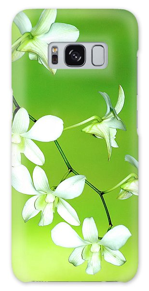 Hanging White Orchids Galaxy Case by Lehua Pekelo-Stearns