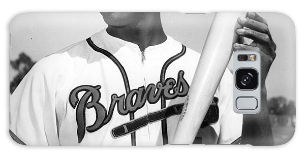 Hank Aaron Poster Galaxy Case by Gianfranco Weiss