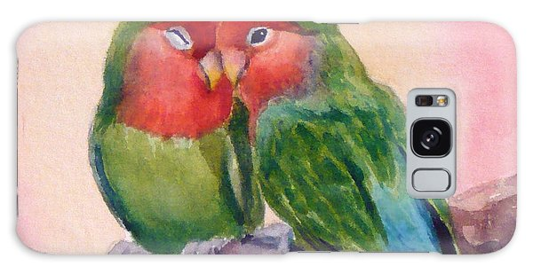 Happiness Forever Lovebirds Galaxy Case