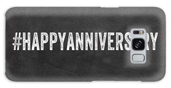 Card Galaxy Case - Happy Anniversary- Greeting Card by Linda Woods