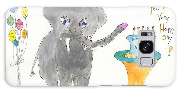 Happy Birthday From Elephoot Galaxy Case by Helen Holden-Gladsky