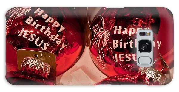Happy Birthday Jesus Galaxy Case by Joann Copeland-Paul