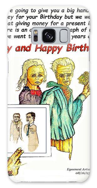 Happy Birthday Office Memo Employee Galaxy Case