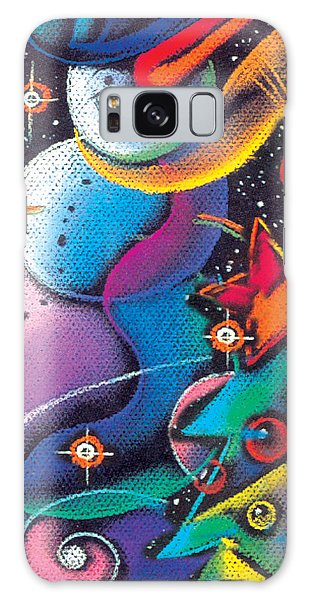 Happy Christmas Galaxy Case by Leon Zernitsky