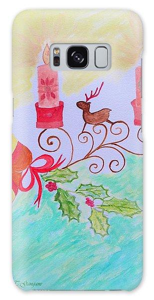 Happy Christmas Galaxy Case by Sonali Gangane