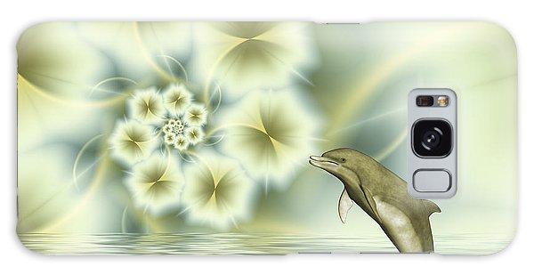 Happy Dolphin In A Surreal World Galaxy Case by Gabiw Art